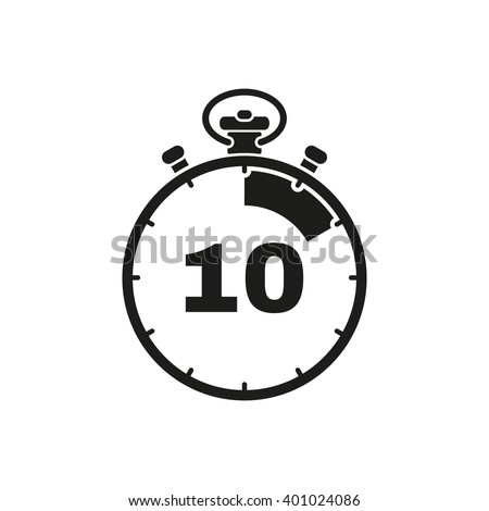 10 Seconds Minutes Stopwatch Icon Clock Stock Vector 401024086 ...