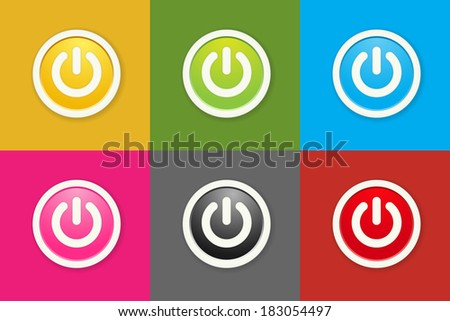Standby stock images royalty free images vectors shutterstock the set of circle buttons with standby icon the standby button collection standby mode altavistaventures Gallery