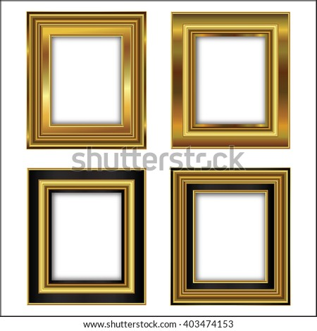 the set of four gilded frames for paintings
