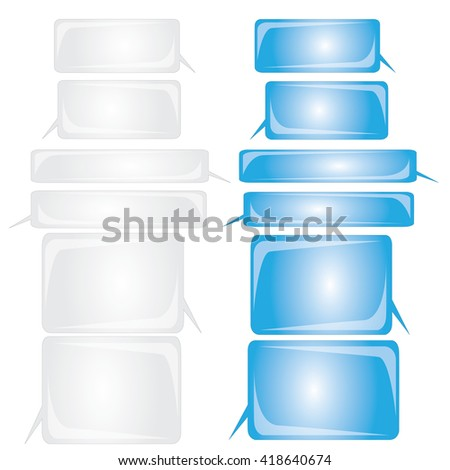 The set of message boxes vector illustration.   - stock vector