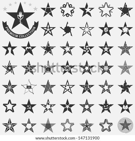 The set of original vector stars - stock vector