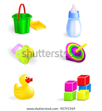 The set of toys vector - stock vector