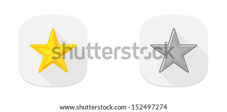 The set of two rating stars / Rating stars / Stars - stock vector