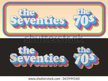 The Seventies 1 - stock vector