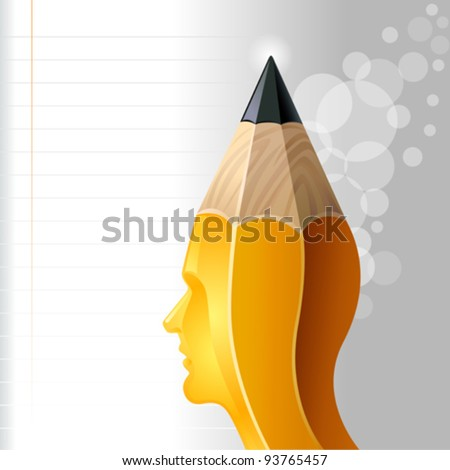 The Sharp Idea-Man - stock vector