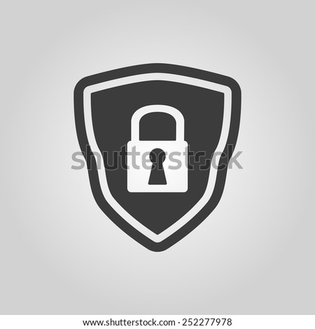 The shield icon. Security symbol. Flat Vector illustration