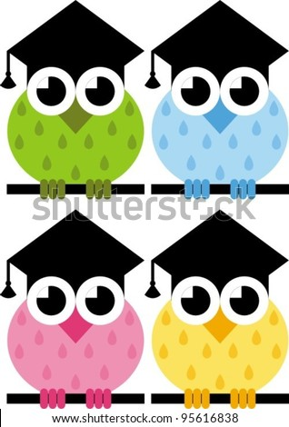 Sign Owl Hat Graduate Symbol Knowledge Stock Vector Royalty Free