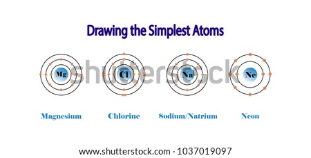 Chlorine stock images royalty free images vectors shutterstock the simplest atomic model magnesium atom chlorine atom sodium atom neon atom ccuart Images