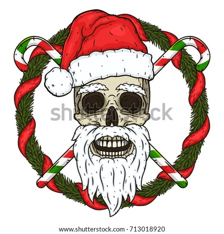 Christmas Skull Stock Images, Royalty-Free Images & Vectors ...