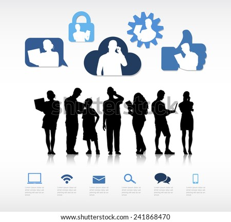 The Social Communication - stock vector