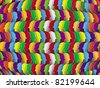 The social network. Abstract vector background with multicolored clusters. - stock