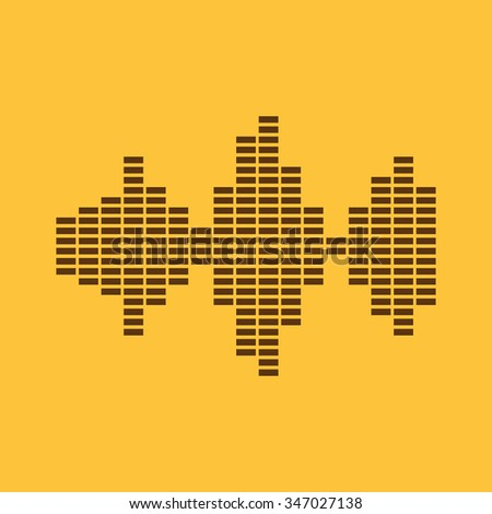 The sound wave and equalizer icon. Audio, radio symbol. Flat Vector illustration - stock vector