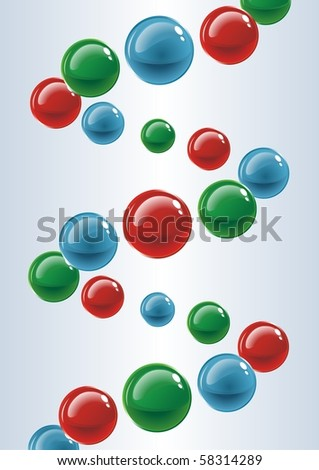 The spiral of colored balls. Malekula. Vector - stock vector