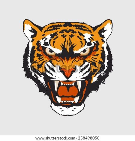 The Spirit of Tiger - color - stock vector