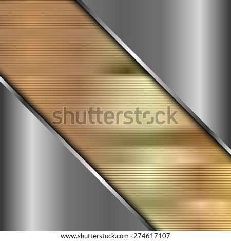 The squared metallic background