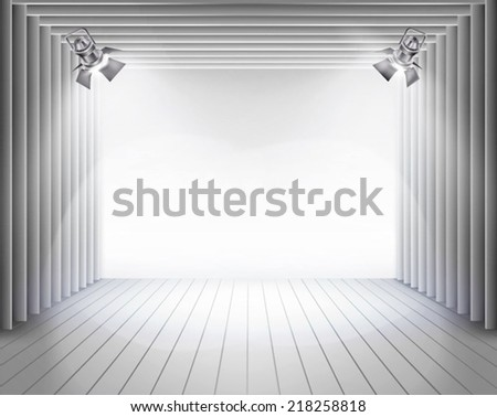 The stage boards. Vector illustration. - stock vector