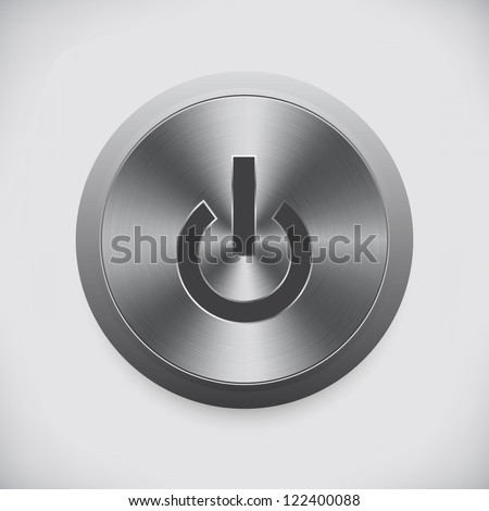 The start button on a metal. Vector - stock vector