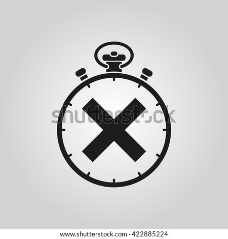 The stopwatch icon. Clock and watch, timer, countdown symbol. UI. Web. Logo. Sign. Flat design. App. Stock vector - stock vector
