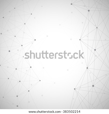 The structure of the DNA molecule and neurons. Connection structure. Vector illustration. Science Vector for your design. EPS 10. - stock vector