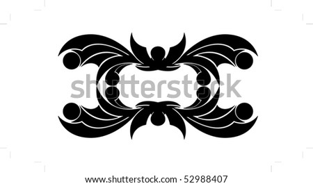 The stylized bat vector illustration - stock vector