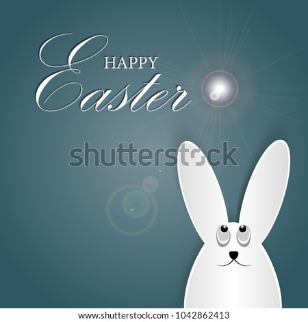 Sun Eggs Rabbits One Symbols Used Stock Vector 2018 1042862413