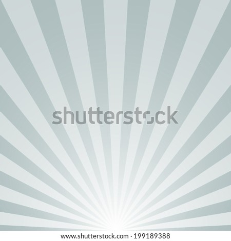 the sunrise with sunbeams on gray background. vector illustration eps10 - stock vector