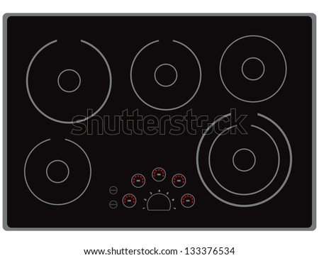 the surface of the modern electric stoves for home cooking vector