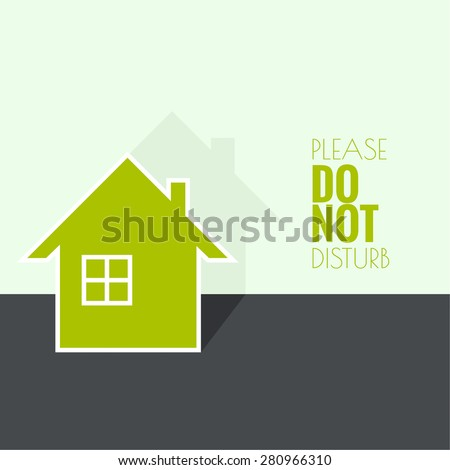 The symbol of a dwelling house with window and chimney.  Icon of real estate. Sign for business card of realtor agency.  flat design. minimal. - stock vector