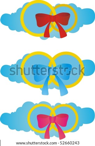 The symbolic image of love, men and women, and homosexual love - stock vector