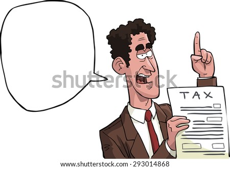 The tax inspector with the declaration vector illustration - stock vector