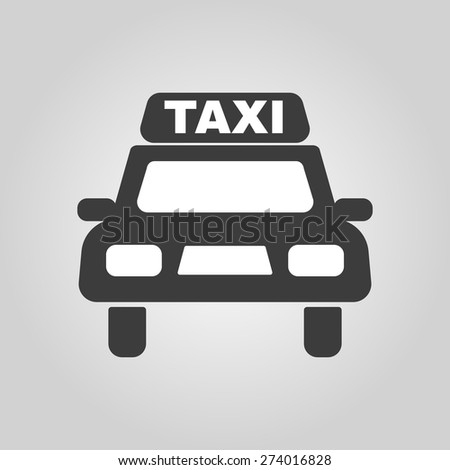 The taxi icon. Taxicab symbol. Flat Vector illustration - stock vector