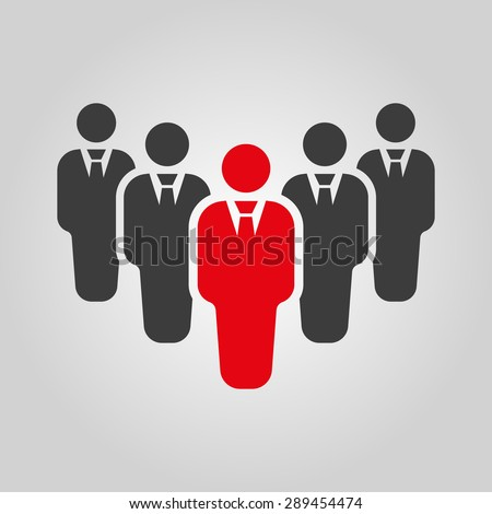 The teamwork icon. Leader and chief symbol. Flat Vector illustration. Button Set - stock vector