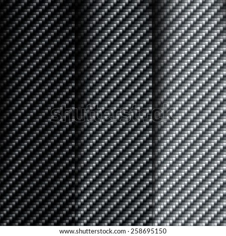 The texture of carbon fiber. Set of vector backgrounds - stock vector