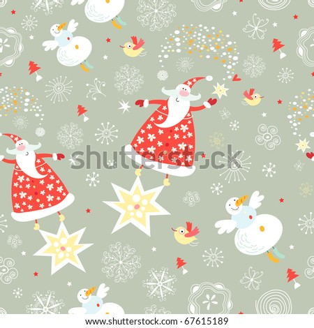 The texture of santa claus - stock vector