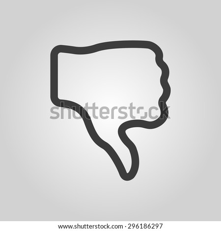 The thumb down icon. Rejected and no, negative symbol. Flat Vector illustration