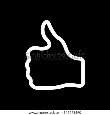 The thumb up icon. Like and yes, approve symbol. Flat Vector illustration - stock vector