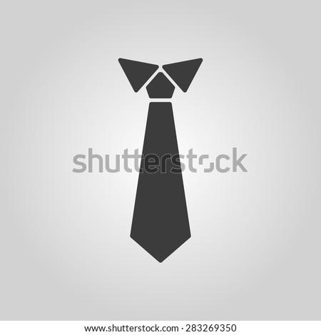 The tie icon. Necktie and neckcloth symbol. Flat Vector illustration - stock vector