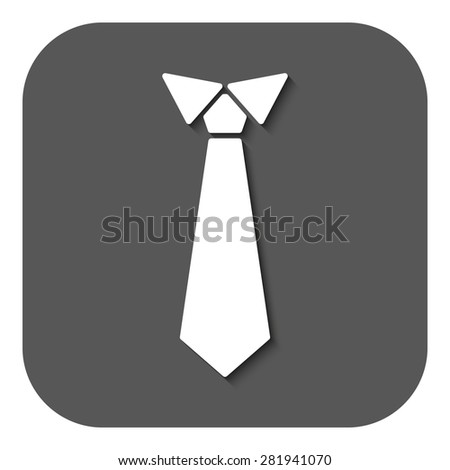 The tie icon. Necktie and neckcloth symbol. Flat Vector illustration. Button