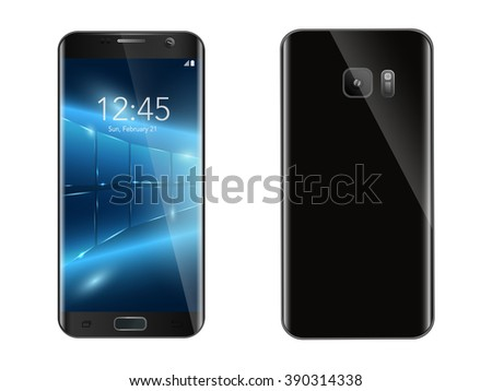 The touch phone. Vector image