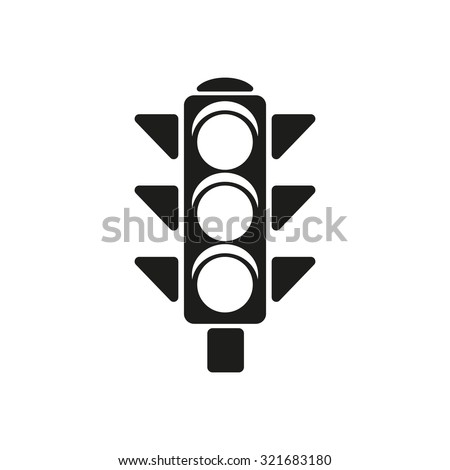 icon lighting. the traffic light icon stoplight and semaphore crossroads symbol flat vector illustration lighting c