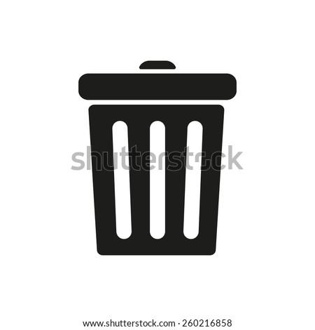 The trashcan icon. Dustbin symbol. Flat Vector illustration - stock vector