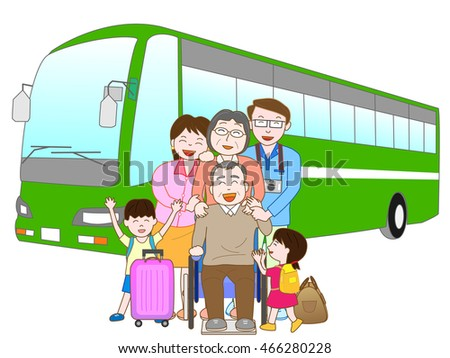 The trip by bus which is pleasant for families.