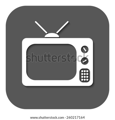 The tv icon. Television symbol. Flat Vector illustration. Button - stock vector