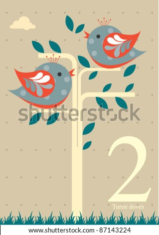 Two turtle doves stock images royalty free images vectors the twelve days of christmas second day of christmas two turtle doves pronofoot35fo Image collections