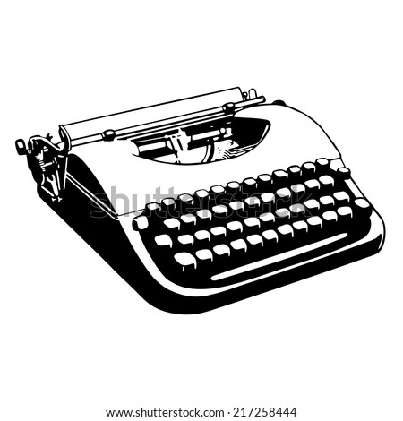 The typewriter - stock vector