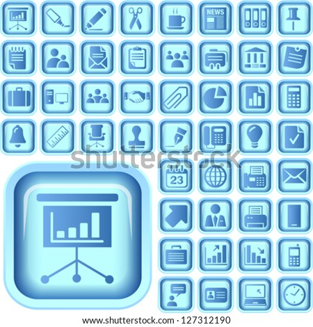 The Ultimate Business Icon Pack - stock vector
