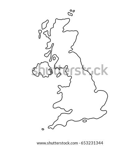 Map Uk Stock Vector Shutterstock - Contour maps online uk