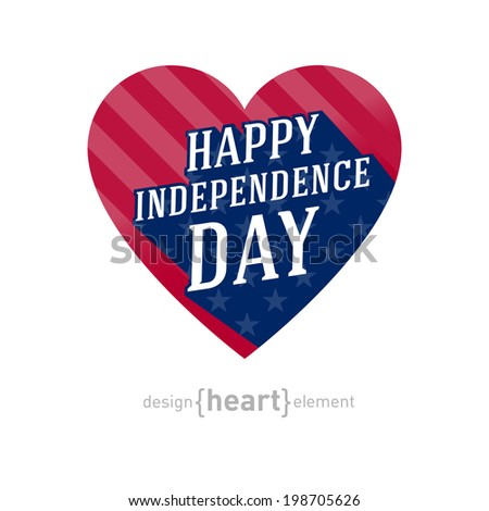 United States America Independence Day Heart Stock Vector Hd