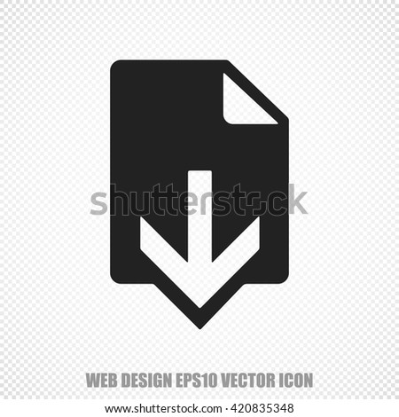 The universal vector icon on the web development theme: Black Download. Modern flat design. For mobile and web design. EPS 10. - stock vector