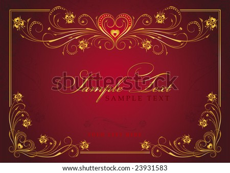 The Valentine's day, vector background - stock vector